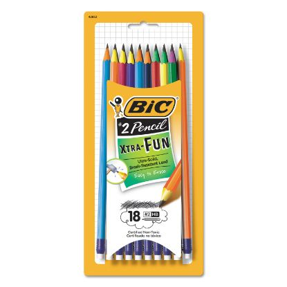Picture of #2 Pencil Xtra Fun, HB (#2), Black Lead, Assorted Barrel Colors, 18/Pack