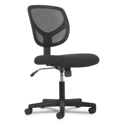Picture of 1-Oh-One Mid-Back Task Chairs, Supports up to 250 lbs., Black Seat/Black Back, Black Base