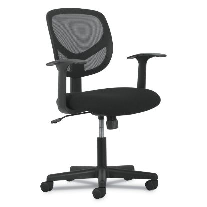 Picture of 1-Oh-Two Mid-Back Task Chairs, Supports up to 250 lbs., Black Seat/Black Back, Black Base