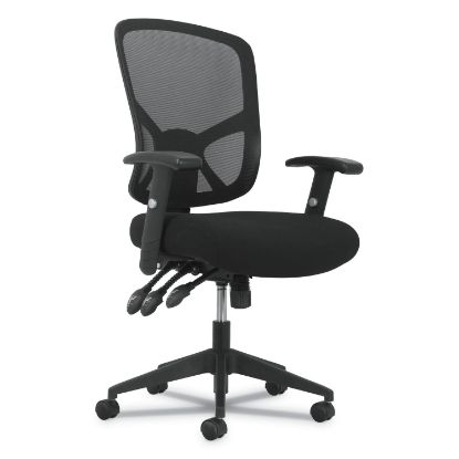 Picture of 1-Twenty-One High-Back Task Chair, Supports up to 250 lbs., Black Seat/Black Back, Black Base