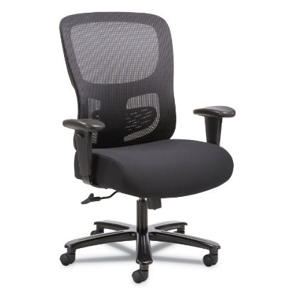 Picture of 1-Fourty-One Big and Tall Mesh Task Chair, Supports up to 350 lbs., Black Seat/Black Back, Black Base