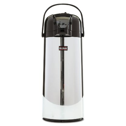 Picture of 2.2 Liter Push Button Airpot, Stainless Steel