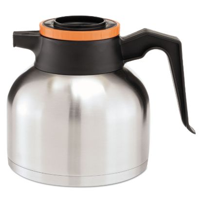 Picture of 1.9 Liter Thermal Carafe, Stainless Steel/ Black and Orange (Decaf)