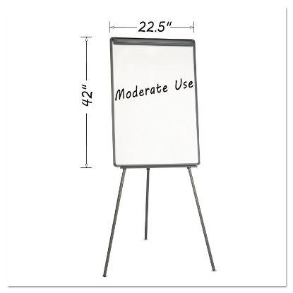 Picture of Basic Tripod Melamine Presentation Easel, 22 1/2 x 42, White/Black