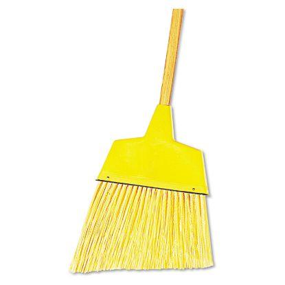 "Picture of Angler Broom, Plastic Bristles, 53"" Wood Handle, Yellow, 12/Carton"