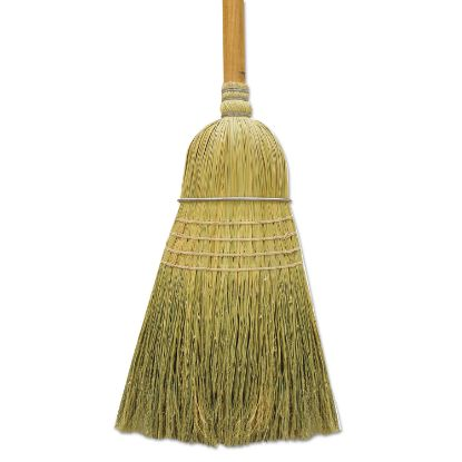 "Picture of 100% Corn Warehouse Brooms, 60"", Black/Natural, 6/Carton"