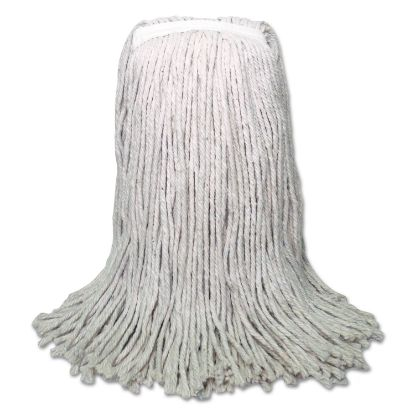 Picture of Banded Mop Head, Cotton, Cut-End, White, 16oz, 12/Carton