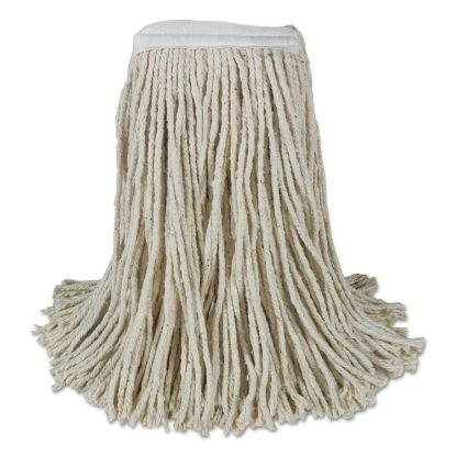 Picture of Banded Cotton Mop Heads, Cut-End, 20oz, White, 12/Carton