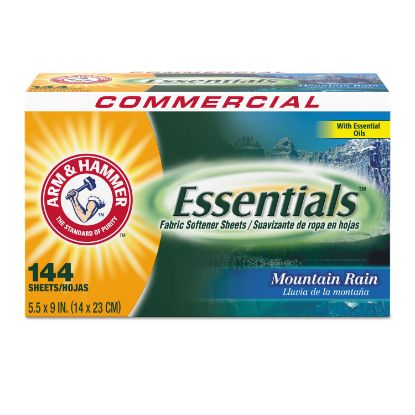 Picture of Essentials Dryer Sheets, Mountain Rain, 144 Sheets/Box, 6 Boxes/Carton