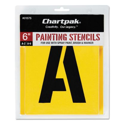 Picture of Painting Stencil Set, A-Z Set/0-9, Manila, 35/Set