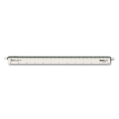 """Picture of Adjustable Triangular Scale Aluminum Architects Ruler, 12"""", Silver"""