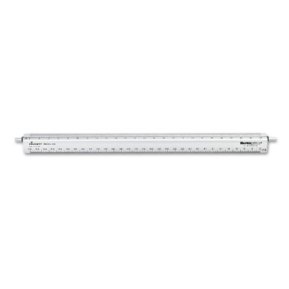 """Picture of Adjustable Triangular Scale Aluminum Engineers Ruler, 12"""", Silver"""