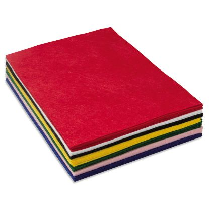 Picture of One Pound Felt Sheet Pack, Rectangular, 9 x 12, Assorted Colors
