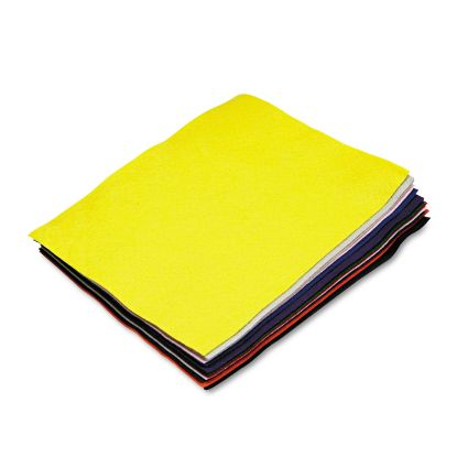 Picture of Felt Sheet Pack, Rectangular, 9 x 12, Assorted Colors, 12/Pack