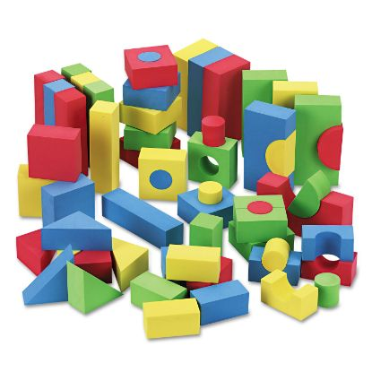 Picture of Blocks, Assorted Colors, 68/Pack