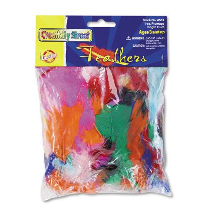 Picture of Bright Hues Feather Assortment, Bright Colors, 1 oz Pack