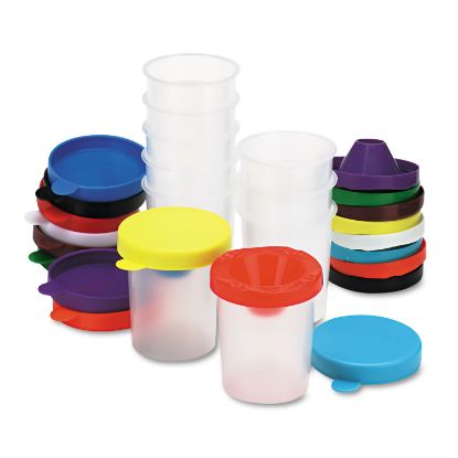 Picture of No-Spill Paint Cups, 10/Set
