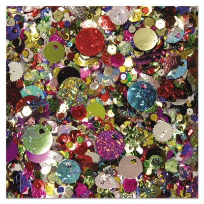 Picture of Sequins & Spangles, Assorted Metallic Colors, 4 oz/Pack