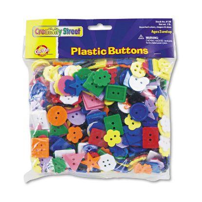 Picture of Plastic Button Assortment, 1 lb, Assorted Colors/Sizes