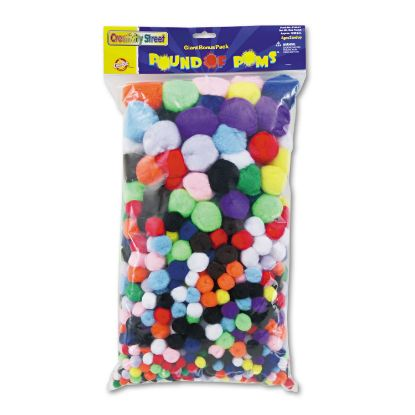 Picture of Pound of Poms Giant Bonus Pack, Assorted Colors, 1 lb/Pack