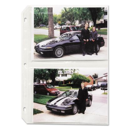 Picture of Clear Photo Pages for Four 5 x 7 Photos, 3-Hole Punched, 11-1/4 x 8-1/8