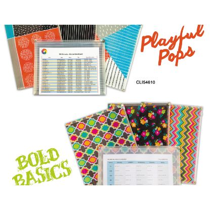 """Picture of Playful Pops and Bold Basics Zip 'N Go Reusable Envelope, 13.13"""" x 10"""", 3/Pack"""