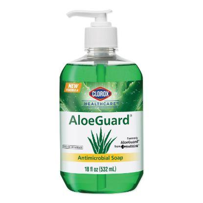Picture of AloeGuard® Antimicrobial Soap, Aloe Scent, 18 oz Pump Bottle, 12/Carton