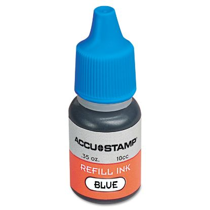 Picture of ACCU-STAMP Gel Ink Refill, Blue, 0.35 oz Bottle