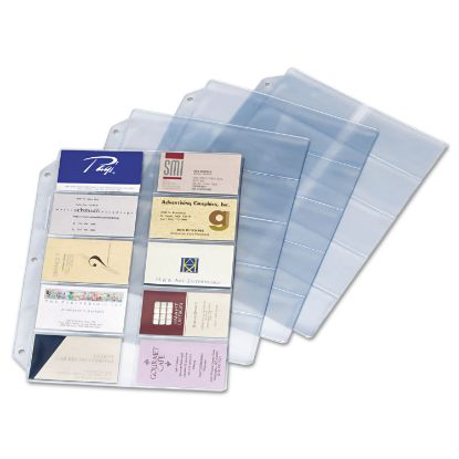 Picture of Business Card Refill Pages, Holds 200 Cards, Clear, 20 Cards/Sheet, 10/Pack