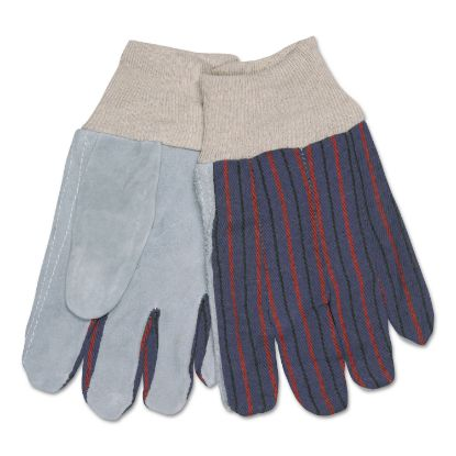 Picture of 1040 Leather Palm Glove, Gray/White, Large, Dozen