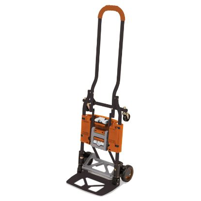 Picture of 2-in-1 Multi-Position Hand Truck and Cart, 16.63 x 12.75 x 49.25, Gray/Orange
