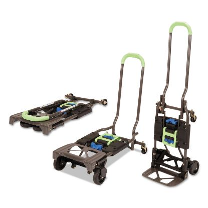Picture of 2-in-1 Multi-Position Hand Truck and Cart, 16.63 x 12.75 x 49.25, Blue/Green