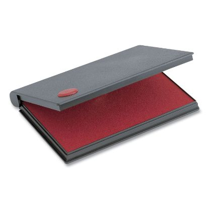 """Picture of 2000 PLUS One-Color Felt Stamp Pad, #2, 6.25"""" x 3.5"""", Red"""