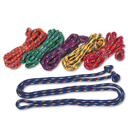 Picture of Braided Nylon Jump Ropes, 8ft, 6 Assorted-Color Jump Ropes/Set