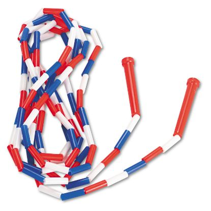 Picture of Segmented Plastic Jump Rope, 16ft, Red/Blue/White