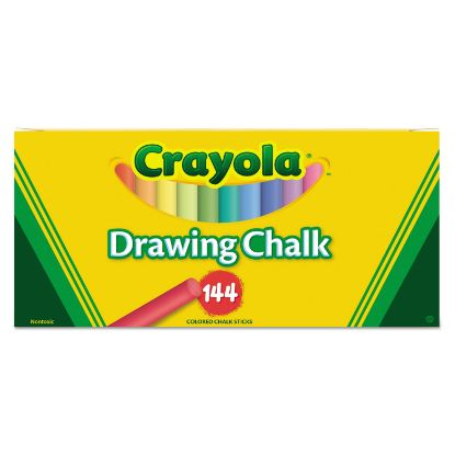 Picture of Colored Drawing Chalk, Six Each of 24 Assorted Colors, 144 Sticks/Set