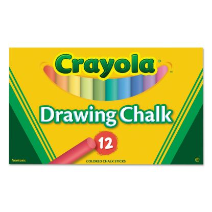 Picture of Colored Drawing Chalk, 12 Assorted Colors 12 Sticks/Set
