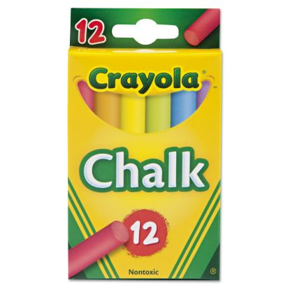 Picture of Chalk, 6 Assorted Colors, 12 Sticks/Box