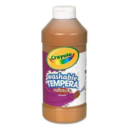 Picture of Artista II Washable Tempera Paint, Brown, 16 oz