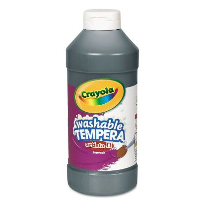 Picture of Artista II Washable Tempera Paint, Black, 16 oz