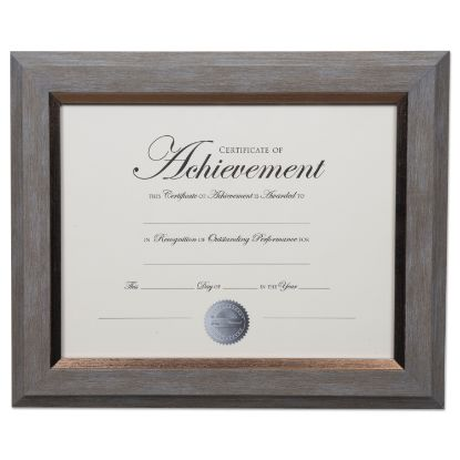 Picture of 2-Tone Document Frame, 8 1/2 x 11 Insert, Gray/Gold Frame