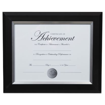 Picture of 2-Tone Document Frame, 8 1/2 x 11 Insert, Black/Silver Frame