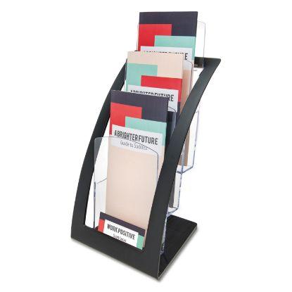 Picture of 3-Tier Literature Holder, Leaflet Size, 6.75w x 6.94d x 13.31h, Black