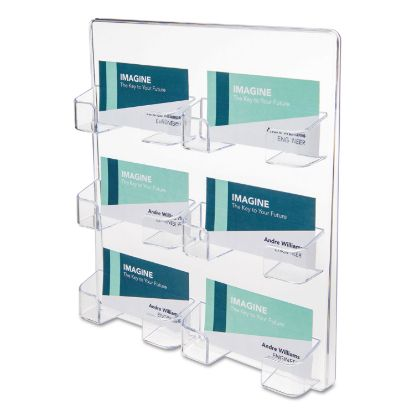 Picture of 6-Pocket Business Card Holder, 480 Card Cap, 8 1/2 x 9 3/4 x 1 5/8, Clear