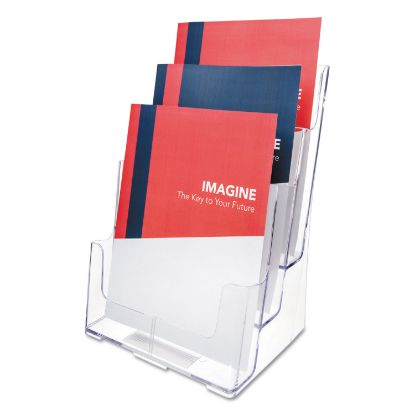 Picture of 3-Compartment DocuHolder, Magazine Size, 9.5w x 6.25d x 12.63, Clear
