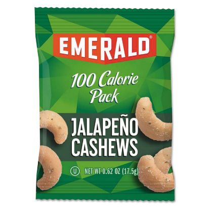 Picture of 100 Calorie Pack Nuts, Jalapeno Cashews, 0.62 oz Pack, 7/Box