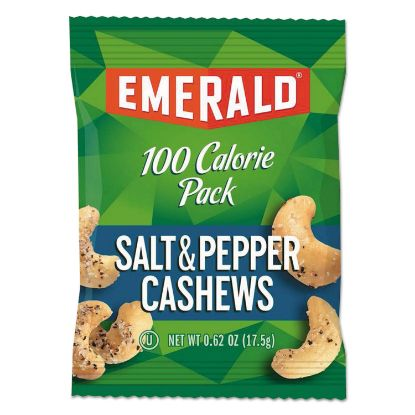 Picture of 100 Calorie Pack Nuts, Salt and Pepper Cashews, 0.62 oz Pack, 7/Box