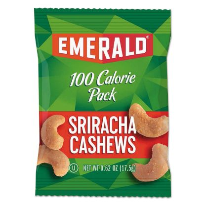 Picture of 100 Calorie Pack Nuts, Sriracha Cashews, 0.62 oz Pack, 7/Box