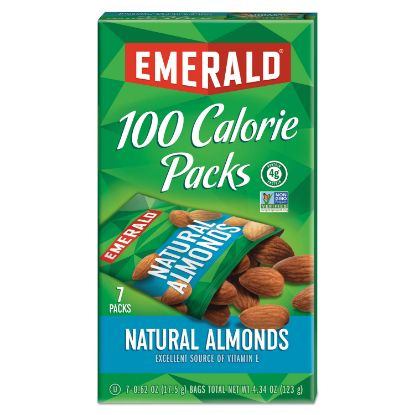Picture of 100 Calorie Pack All Natural Almonds, 0.63 oz Packs, 7/Box