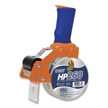 """Picture of Bladesafe Antimicrobial Tape Gun with Tape, 3"""" Core, Metal/Plastic, Orange"""